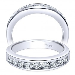 Taryn 14 Karat White Gold Round Straight Wedding Band TW3962W44JJ