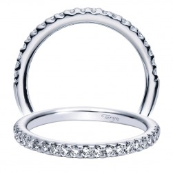 Taryn 14 Karat White Gold Round Straight Wedding Band TW4244W44JJ