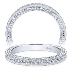 Taryn 14 Karat White Gold Round Straight Wedding Band TW6636W44JJ