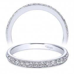 Taryn 14 Karat White Gold Round Straight Wedding Band TW6707W44JJ