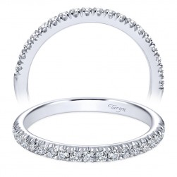 Taryn 14 Karat White Gold Round Straight Wedding Band TW6872W44JJ