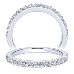 Taryn 14 Karat White Gold Round Straight Wedding Band TW6873W44JJ