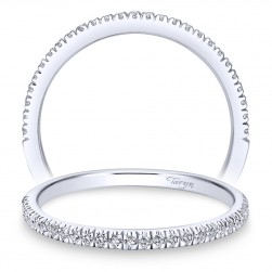 Taryn 14 Karat White Gold Round Straight Wedding Band TW7224W44JJ