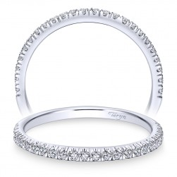 Taryn 14 Karat White Gold Round Straight Wedding Band TW7252W44JJ
