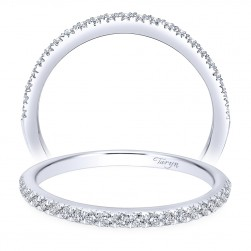 Taryn 14 Karat White Gold Round Straight Wedding Band TW7266W44JJ