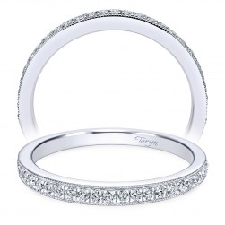Taryn 14 Karat White Gold Round Straight Wedding Band TW7278W44JJ