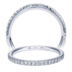Taryn 14 Karat White Gold Round Straight Wedding Band TW7431W44JJ