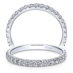 Taryn 14 Karat White Gold Round Straight Wedding Band TW7432W44JJ