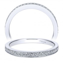 Taryn 14 Karat White Gold Round Straight Wedding Band TW7525W44JJ