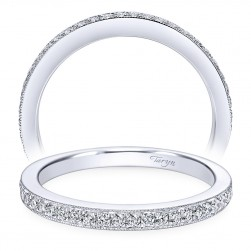 Taryn 14 Karat White Gold Round Straight Wedding Band TW7527W44JJ