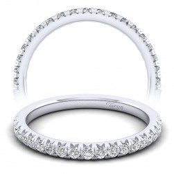 Taryn 14 Karat White Gold Round Straight Wedding Band TW8259W44JJ