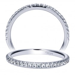 Taryn 14 Karat White Gold Round Straight Wedding Band TW8520W44JJ