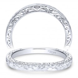 Taryn 14 Karat White Gold Round Straight Wedding Band TW9059W4JJJ
