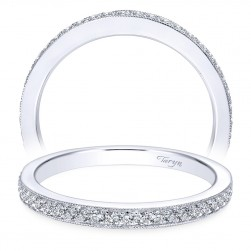 Taryn 14 Karat White Gold Round Wedding Band TW7528W44JJ