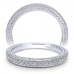 Taryn 14 Karat White Gold Straight Wedding Band TW10107W44JJ
