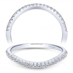 Taryn 14 Karat White Gold Straight Wedding Band TW10110W44JJ