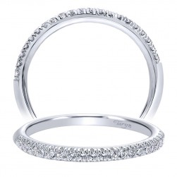 Taryn 14 Karat White Gold Straight Wedding Band TW10135W44JJ