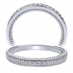 Taryn 14 Karat White Gold Straight Wedding Band TW10264W44JJ