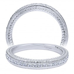 Taryn 14 Karat White Gold Straight Wedding Band TW10281W44JJ