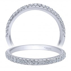 Taryn 14 Karat White Gold Straight Wedding Band TW10284W44JJ