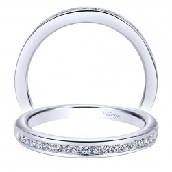 Taryn 14 Karat White Gold Straight Wedding Band TW10286W44JJ
