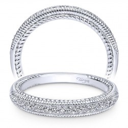 Taryn 14 Karat White Gold Straight Wedding Band TW10430W44JJ