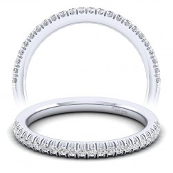 Taryn 14 Karat White Gold Straight Wedding Band TW10439W44JJ