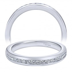 Taryn 14 Karat White Gold Straight Wedding Band TW10476W44JJ