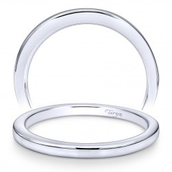 Taryn 14 Karat White Gold Straight Wedding Band TW10762W4JJJ