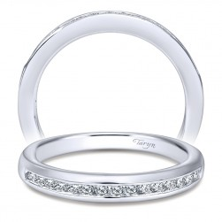 Taryn 14 Karat White Gold Straight Wedding Band TW10793W44JJ