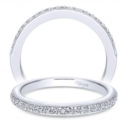 Taryn 14 Karat White Gold Straight Wedding Band TW10794W44JJ