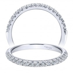 Taryn 14 Karat White Gold Straight Wedding Band TW10909W44JJ