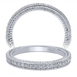 Taryn 14 Karat White Gold Straight Wedding Band TW10912W44JJ