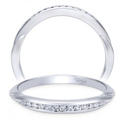 Taryn 14 Karat White Gold Straight Wedding Band TW11749R3W44JJ