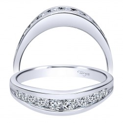 Taryn 14 Karat White Gold Straight Wedding Band TW2157W44JJ