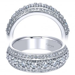 Taryn 14 Karat White Gold Straight Wedding Band TW4005W44JJ
