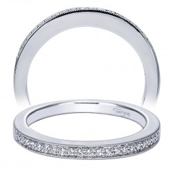 Taryn 14 Karat White Gold Straight Wedding Band TW4032W44JJ