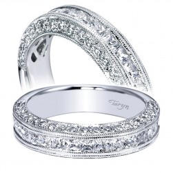 Taryn 14 Karat White Gold Straight Wedding Band TW4139W44JJ