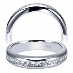 Taryn 14 Karat White Gold Straight Wedding Band TW4185W44JJ