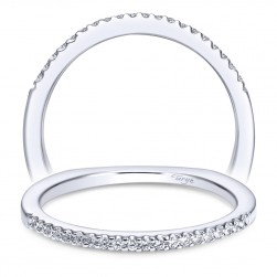 Taryn 14 Karat White Gold Straight Wedding Band TW4263W44JJ