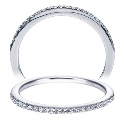 Taryn 14 Karat White Gold Straight Wedding Band TW5334W44JJ