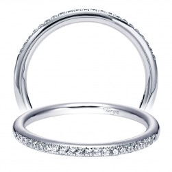 Taryn 14 Karat White Gold Straight Wedding Band TW5412W44JJ