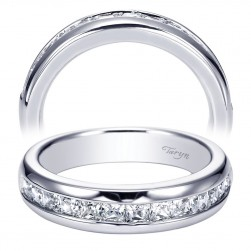 Taryn 14 Karat White Gold Straight Wedding Band TW5519W44JJ