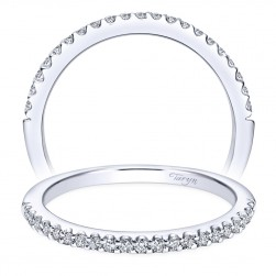 Taryn 14 Karat White Gold Straight Wedding Band TW5825W44JJ