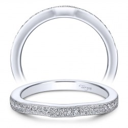 Taryn 14 Karat White Gold Straight Wedding Band TW6389W44JJ