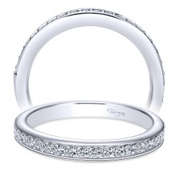Taryn 14 Karat White Gold Straight Wedding Band TW6573W44JJ