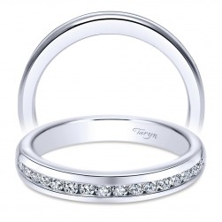 Taryn 14 Karat White Gold Straight Wedding Band TW6583W44JJ