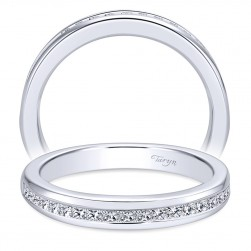Taryn 14 Karat White Gold Straight Wedding Band TW6596W44JJ