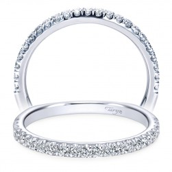 Taryn 14 Karat White Gold Straight Wedding Band TW6623W44JJ