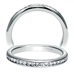 Taryn 14 Karat White Gold Straight Wedding Band TW6640W44JJ